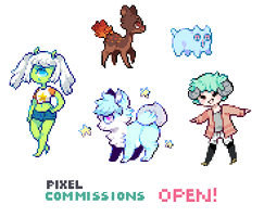 Pixel Commissions [ now open! ] by Sergle