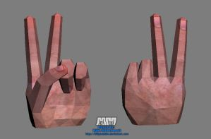 Peace Sign Hand 'Assembled' by billybob884