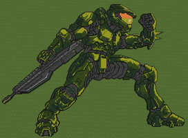 Minecraft - Master Chief by luk01