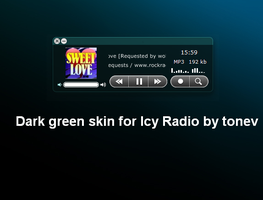 Dark Green skin for Icy Radio by tonev