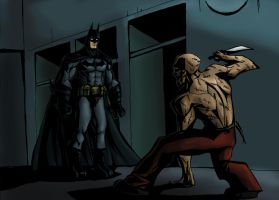 Batman vs Zsasz by Sabrerine911