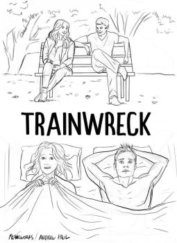 concept poster for Trainwreck film by AOPaul