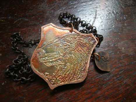 Polar bear Etched Menagerie necklace For SALE by modastrid