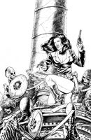 Athena Voltaire cover inks by stevebryant