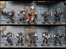 Tactical squad painted as Black Templars 2 by TheWayOfTempest
