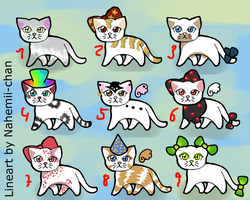 FREE Kitty adoptables - CLOSED by Nahemii-chan