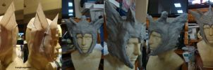 Lady Thor Helmet Process by BangBangNeko