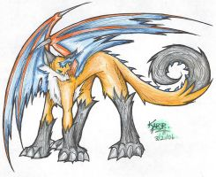 Foxdragon 2006- Colored by KitsuneDra