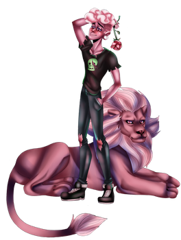 Two Pink Lads by homeless-goat