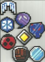 Johto Pokebadges by Ravenfox-Beadsprites
