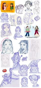 Sketches 1 by rebeccavoy