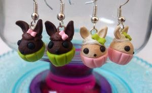 Easter bunny cupcakes by RoOsaTejp