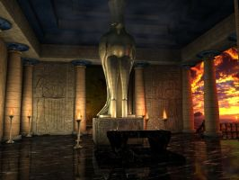 Temple Of Isis by bhippy