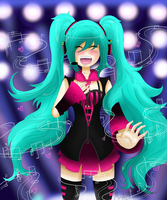 Hatsune Miku Singing from the heart by Mohxi