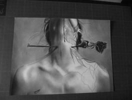 RoseThe passion in love ... Letdown by MM-ARTDrawing