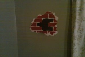 hole in the wall stencil by MONKEYkingDESIGNS