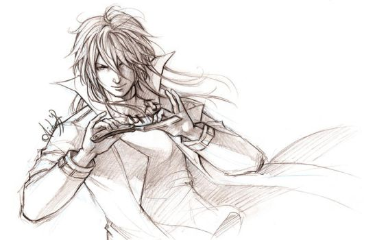 Psycho Pass - Shougo Makishima sketch by Lehanan