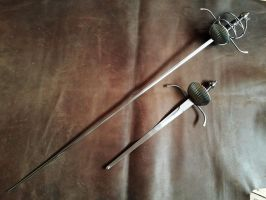 Knot Rapier and Dagger set - 1 by Danelli-Armouries