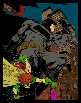 dark knight by paulosiqueira and Flats by me by LadyRavenclaw16