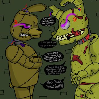 Double Trouble (Tex meets Canon Springtrap) by YaoiLover113