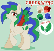Greenwing Reference by MintyStitch