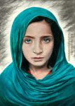 Girl with Green Shawl by AmBr0