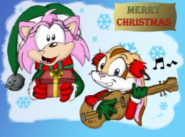 Cream and Amy-Merry Christmas by spongefox