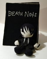 Mikami Plush with a Death Note by AlchemyOtaku17