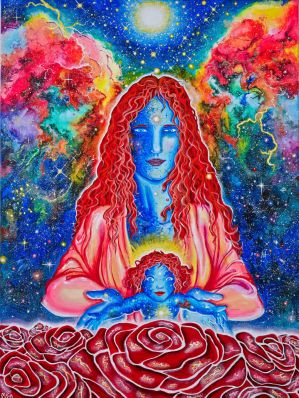 The Divine Mother and Child by MarikaSSArt