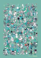 CREATURES DOTS N' ROBOTS by dronograph