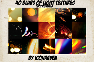 40 blurs of light textures by iconxraven