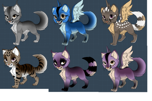Kitten and/or Warrior Cat  Adoptables 2 by DibFan4LifeX3