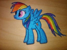 Rainbow Dash Embroidered Patch by EthePony