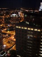 Minneapolis - Night Life Birdseye View by ice-queen-blue