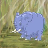 a elephant by inner-etch