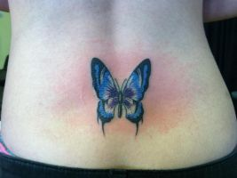 Blue Butterfly Tattoo by NarcissusTattoos