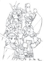 FFTactics - warrior classes by rockmanzero