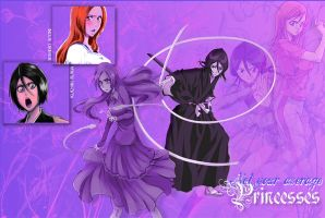 Not Your Average Princesses (Rukia and Orihime) by PlayxDead88