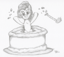 Surprise Pie-Cake by KuroiTsubasaTenshi