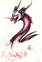 Red and Black Dragon by dandansama