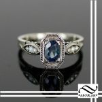 Sapphire and Pearl Art Deco Ring by mooredesign13