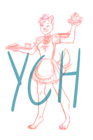 YCH - Maid by magerights