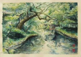 Changdeokgung in Watercolour by belleleung