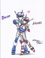 Robot love - David and Monks by NeoLupeTrooper9893