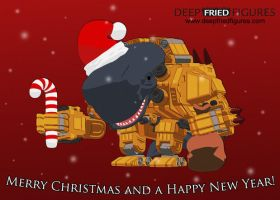 Deep Fried Figures Merry Christmas Card by hauke3000