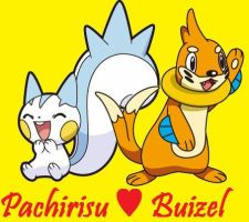 Buizel and Pachirisu by Dark-Infernape