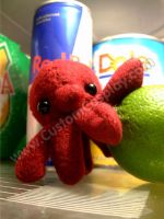 Teeny tiny octopus plushie by The-Cute-Storm