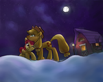 Apple night by Chuck-Norrisss