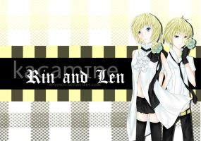 Kagamine Rin and Len by xPsyren