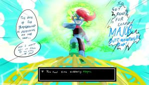 QuantumTale: TK!Undyne the Timeless Heroine by perfectshadow06